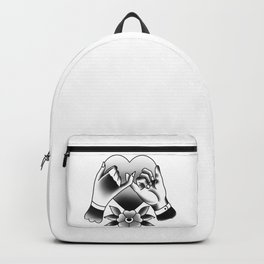 heart with promise tattoo traditional art trendy Backpack