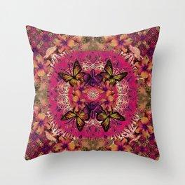 Victoria Mandala Collage Throw Pillow