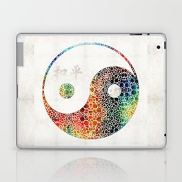 Yin And Yang - Colorful Peace - By Sharon Cummings Laptop & iPad Skin