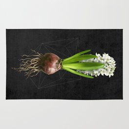 White Hyacinth Hydroponics (tryptic 2/3) Rug