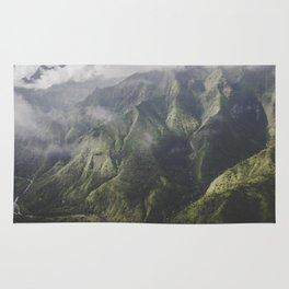 Mountain on the Green - Kauai, Hawaii Rug