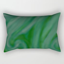 Green SWIRL Rectangular Pillow