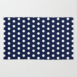 Indigo Navy Blue Polka Dot Rug