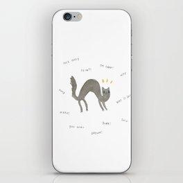 Scaredy Cat iPhone Skin