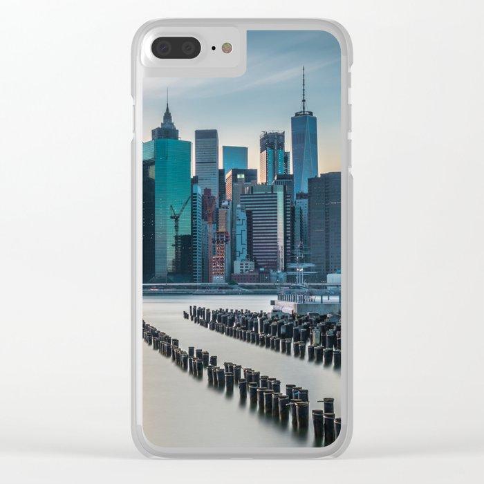 Sunset Over Manhattan, New York Clear iPhone Case