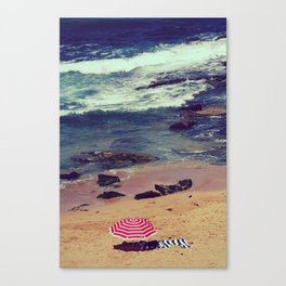 Retro style hot of Avalon beach Canvas Print