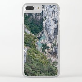 French Gorges in the winter Clear iPhone Case