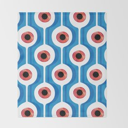Eye Pod Blue Throw Blanket
