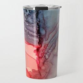 Undertow Meets Lava- Alcohol Ink Painting Travel Mug