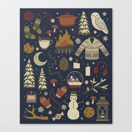 Winter Nights Canvas Print