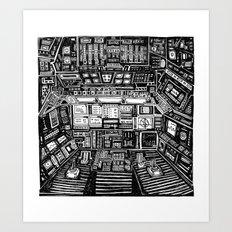 Lost cabin 666 Art Print
