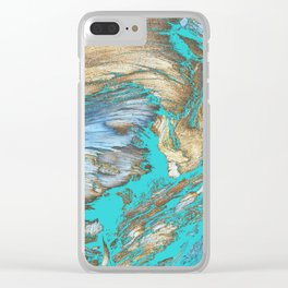 Woody Water Clear iPhone Case