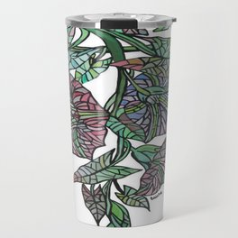 Art Nouveau Morning Glory Isolated Travel Mug
