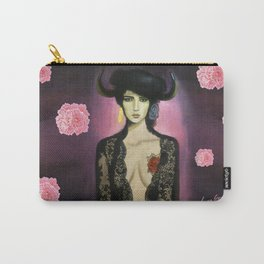 Flamenco dancer with horns and tattoo Carry-All Pouch