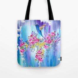 Roses and Hummingbirds in Love Tote Bag