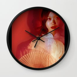 Beyond red Wall Clock