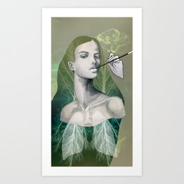 A Smokers Lungs Art Print