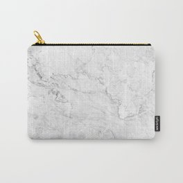 White Marble texture floor background light gray grey texture greek marble print luxuous real marble Carry-All Pouch