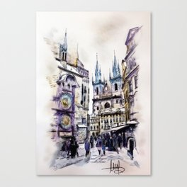 Old Town Square in Prague Canvas Print
