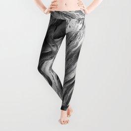 weathered driftwood black and white Leggings