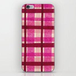 Tissue Paper Plaid - Pink iPhone Skin