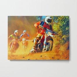 Motor Bike Sport Race Painting Metal Print