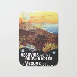 Vesuvius and the Gulf of Naples Bath Mat