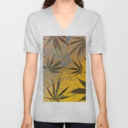 Cannabis leaves Unisex V-Neck