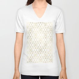 Modern Art Deco Geometric 1 Unisex V-Neck