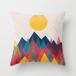 Uphill Battle Throw Pillow