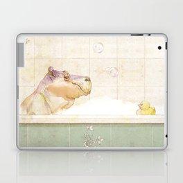 Hippo in the bath Laptop & iPad Skin