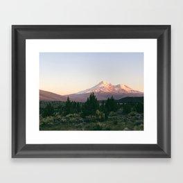 Mt. Shasta at Sunset Framed Art Print