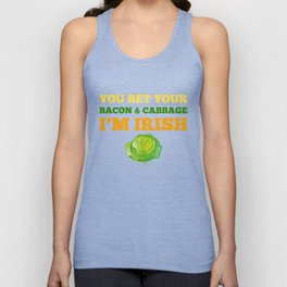 You Bet Your Bacon  Cabbage I'm Irish St Patricks Unisex Tank Top