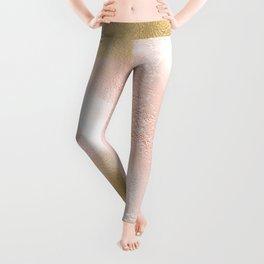 Rose Gold and Gold Blush Leggings