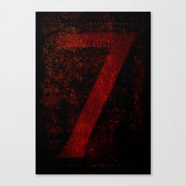 'Se7en' film poster Canvas Print
