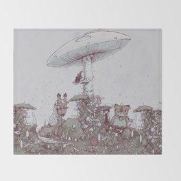 Rain of Spores Throw Blanket