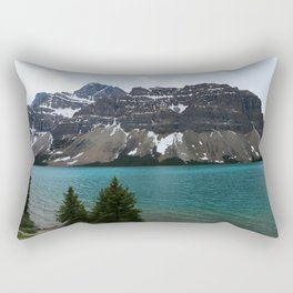 Bow Lake With Crowfoot Mountains Rectangular Pillow