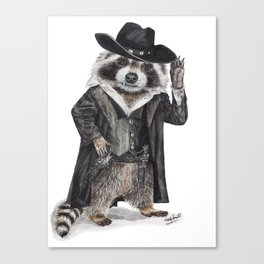 Raccoon Bandit Canvas Print
