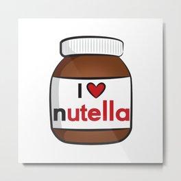 Nutella Cute Metal Print