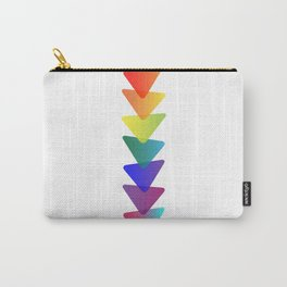 Geo-Stacked Rainbow Carry-All Pouch