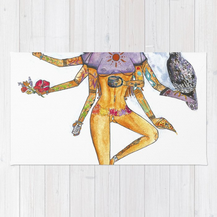 Modern Goddess Tools - Sexy Eight Armed Blonde Rug