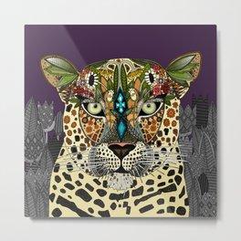 leopard queen Metal Print