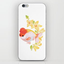 Ranchu and Forsythias iPhone Skin