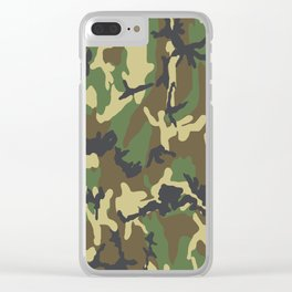 Woodland Camo Clear iPhone Case