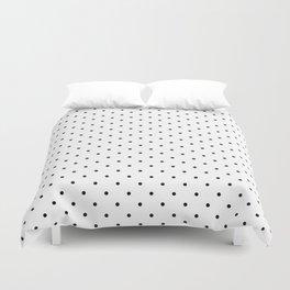 Little Dots Black on White Duvet Cover