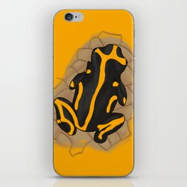 yellow-banded poison dart frog iPhone Skin