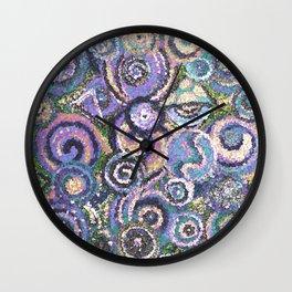 Textured Circles Wall Clock