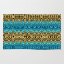 Retro India Lounge Pattern (turquoise) Rug