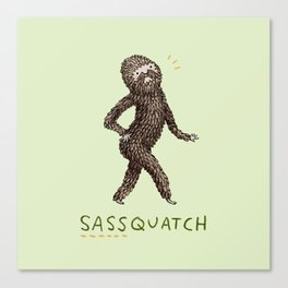 Sassquatch Canvas Print