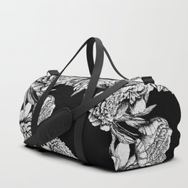 FLOWERS IN BLACK AND WHITE Duffle Bag